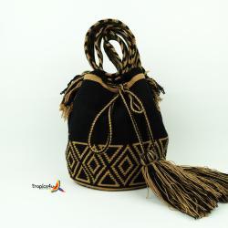 Mochila Wayuu Grande- Schwarz