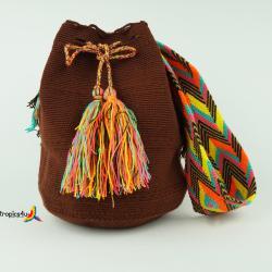 Mochila Wayuu Mediana- Braun 2
