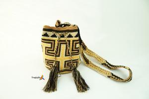 Mochila Wayuu Mediana- Braun- Gelb